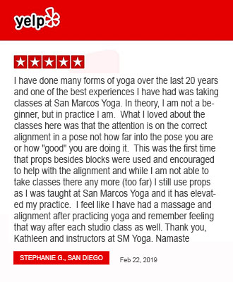 yelp review san marcos yoga